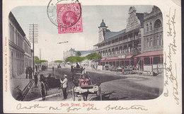 Natal PPC Smith Street - Durban Sallo Epstein & Co. Durban Frontside Franking NEWCASTLE Natal 1906 Simple Backside TAXE - Südafrika