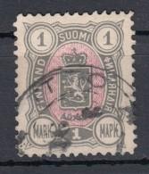 Finnland 1 M Wappen 1889 - 2 Kreis O - 1856-1917 Administration Russe