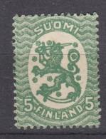 Finnland 5 P Wappen 1917 -  ** Postfrisch - Finlandia