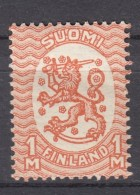 Finnland 1 M Wappen 1917 -  ** Postfrisch - Finland