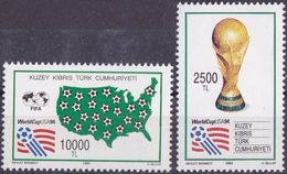 Soccer Football Turkish Cyprus #376/7 1994 World Cup In The USA MNH ** - Coupe Du Monde