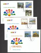 Croatia Zagreb 1994 / 150 Y. Of Croatian Tourism / Kopacki Trscak, Opatija, Brijuni, Trakoscan, Plitvice, Kornati, Krka - Other