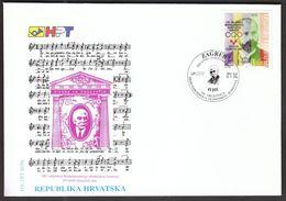 Croatia Zagreb 1994 / International Olympic Committee 100 Ann. / Pierre De Coubertin / Franjo Bucar / FDC - Sin Clasificación