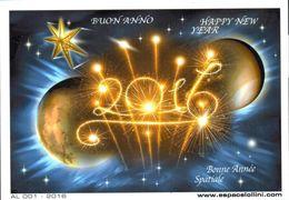 Carte Postale Bonne Année Spatiale 2016 - Editions Lollini - Nouvel An