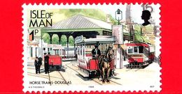 ISOLA DI MAN - Usato - 1988 - Ferrovie - Cavallo - Treno - Horse Trams Douglas - 1 - Isola Di Man