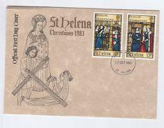 1983 ST HELENA FDC CHRISTMAS Stamps Cover Religion - Saint Helena Island