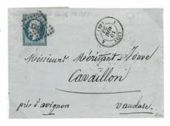 14Ah  - Petits Chiffres 1818 Lyon (68) - Signé CALVES -  Variété PostFes - TTB Belles Larges - 1853-1860 Napoléon III