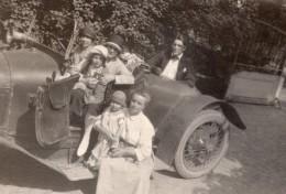 France Groupe Famille Et Belle Automobile Ancienne Photo Amateur 1910's - Cars
