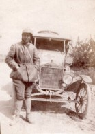 France Courmas Homme Et Son Automobile Ford Ancienne Photo Amateur 1910's - Cars