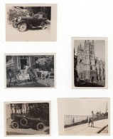 Suisse? Petit Lot Non Situe Automobile 5 Anciennes Photos Amateur 1920's - Cars