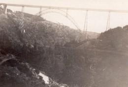 France Cantal Viaduc De Garabit Gorges De La Truyère Ancienne Photo Amateur 1927 - Trains