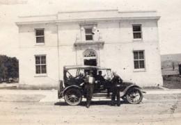 USA New Mexico Raton Automobile Devant La Poste Post Office Ancienne Photo Amateur 1910's - Cars