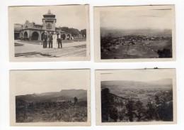 USA New Mexico Raton La Gare Et Marins Sante Fe Station 4 Anciennes Photos Amateur 1910's - Trains