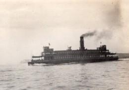 Californie Ferry A Vapeur Entre San Francisco Et Oakland Ancienne Photo Amateur 1920 - Boats