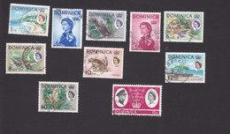 Dominica, Scott #164-165, 167-172, 177, 194, Used, Queen Elizabeth II, Scenes Of Dominica, Royal Visit, Issued 1963-66 - Dominica (...-1978)