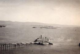 Californie San Francisco Goat Yerba Buena Island Pier Ancienne Photo Amateur 1920 - Boats