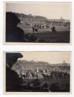 USA San Francisco Douglas Fairbanks Rodeo Chevaux 2 Anciennes Carte Photos Amateur 1920 - Sports