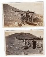USA Maison Camouflee Flanc De Colline Automobile 2 Anciennes Photos Amateur 1920 - Cars