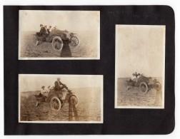 USA Kansas Greeley County Automobile Vieux Tacot 3 Anciennes Photos Amateur 1920 - Cars