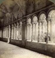 Italie Rome Roma Cloitre De Basilique Saint Pierre Ancienne Photo Stereo Underwood 1900 - Stereoscopic