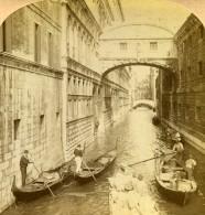 Italie Venise Venezia Pont Des Soupirs Ancienne Photo Stereo Underwood 1900 - Stereoscopic