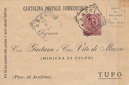 Angri. 1900. Annullo Tondo Riquadrato ANGRI (SALERNO), Su Cartolina Postale - 1878-00 Umberto I
