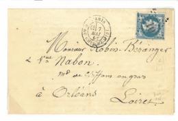 N°29- étoile De Paris 10 - Rue Du Cherche Midi - Lac De Paris à Orléans Du 07/0/1867 - TB - 1871-1875 Ceres