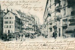 SWITZERLAND - Lausanne - Rue Centrale - 1900 VG Postmarks - Undivided Rear - LU Lucerne