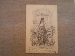 Femme Au Balcon Libère Un Pigeon à Tête D'homme, 1902, Timbre (B3) - Illustrators & Photographers