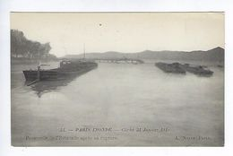 CPA Paris Inondé Passerelle De L'Estacade Après Sa Rupture N° 51 Noyer - Inondations De 1910