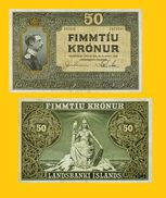 DANMARK 50 KRONOR 1928 REPRODUCTION - Danemark