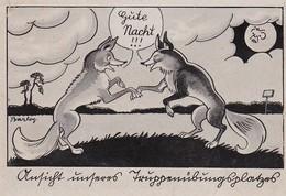 AK Ansicht Unseres Truppenübungsplatzes - Humor - Füchse - 1943 (31335) - Humor