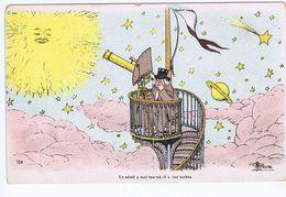 Astronome, Téléscope, Le Soleil A Mal Tourné, Illustrateur Guillaume - Guillaume