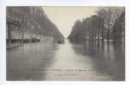 CPA Paris Inondé Avenue Montaigne N° 47 Noyer - Inondations De 1910