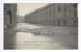 CPA Paris Inondé Rue De Bourgogne Chambre Des Députés N° 46 Noyer - Inondations De 1910