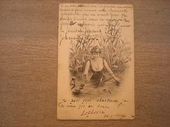 Femme En Maillot Dans Les Marais Avec Canard à Tête D'homme,1902, Timbre (C3) - Women