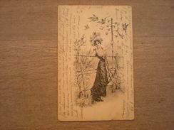 Femme Et Plusieurs Oiseaux à Tête D'homme,1902, Timbre (C3) - Women