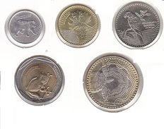 Colombia - Set Of 5 Coins Animals Bimetallic - UNC - Colombia
