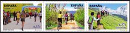 ESPAGNE SPANIEN SPAIN ESPAÑA  2013 SPORT FOR ALL PEOPLE SET 3V MI 4831-33 SG 4808-10 SC 3943A-C YV 4536-38 ED 4832-34 - 2011-... Nuevos & Fijasellos