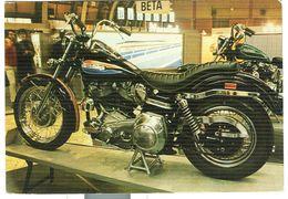 HARLEY DAVIDSON SPORTSTER 900 CC., CARTOLINA COLORI,VIAGGIATA 1975, - Moto