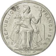 Nouvelle-Calédonie, 2 Francs, 1991, Paris, SUP, Aluminium, KM:14 - New Caledonia