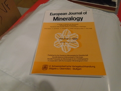 EUROPEAN JOURNAL OF MINERALOGY VOLUME 2 / 1990 / NUMBER 4 JULY AUGUST - Sciences De La Terre