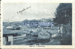 81633 ITALY BIELLA PIAMONTE PANORAMA RAILROAD POSTAL POSTCARD - Unclassified