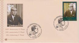 United Nations FDC Mi 587 Centenary Of Birth Of Sithu U Thant - Cancellation Vienna - 2009 - FDC