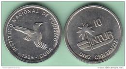 1989-MN-126 CUBA 1989 INTUR 10c Cuc ZUNZUN BIRD AVES. CUPRO-NI. UNC - Kuba