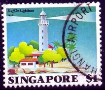 Lighthouse, Raffles, 1855, Singapore Stamp SC#399 Used - Singapour (1959-...)