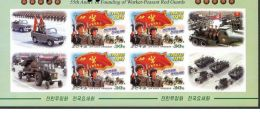 SI4915-1 North Korea 2014 Workers And Peoples Red Guards 55th Anniversary Edition Small Plate (No Teeth) - Korea, North