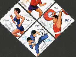 North Korea 2014 Sports (table Tennis, Running, Weightlifting, Judo) 4 Full - Korea, North