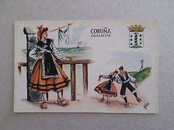 ART POSTCARD Sg. SPAIN ESPAÑA ESPANA GALICIA CORUÑA TYPICAL COSTUME 1940years Z1 - Postcards