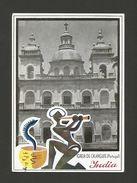 ART POSTCARD 1950years PORTUGUESE INDIA GOA CALANGUITE CHURCH Snake Charmer Z1 - Unclassified
